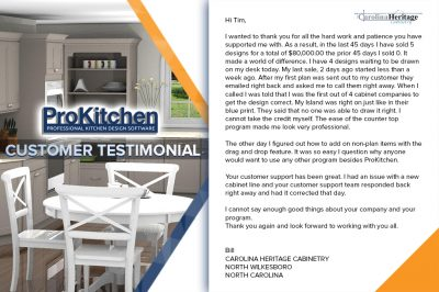 ProKitchen customer testimonial