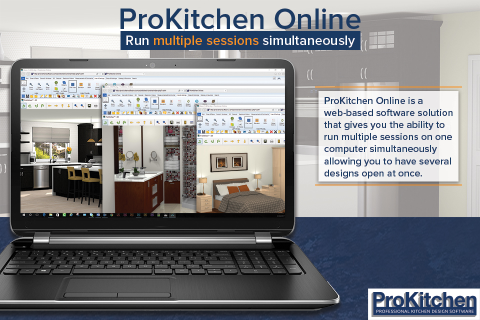Run multiple sessions of ProKitchen Online simultaneously