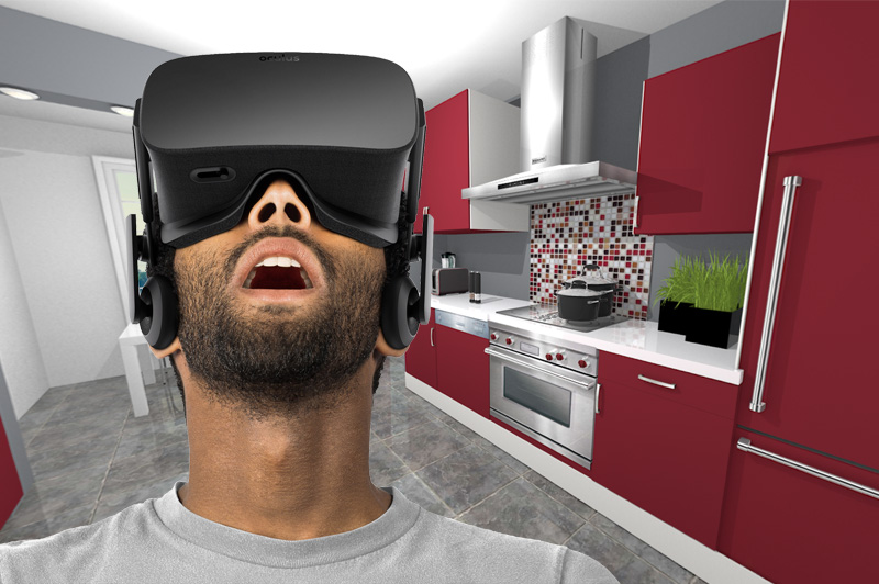 Only With ProKitchen Oculus Can You Change Cabinet Door Styles And  Finishes, Flooring, Countertops, Wall Color And More, Right In Your Virtual  Reality ...