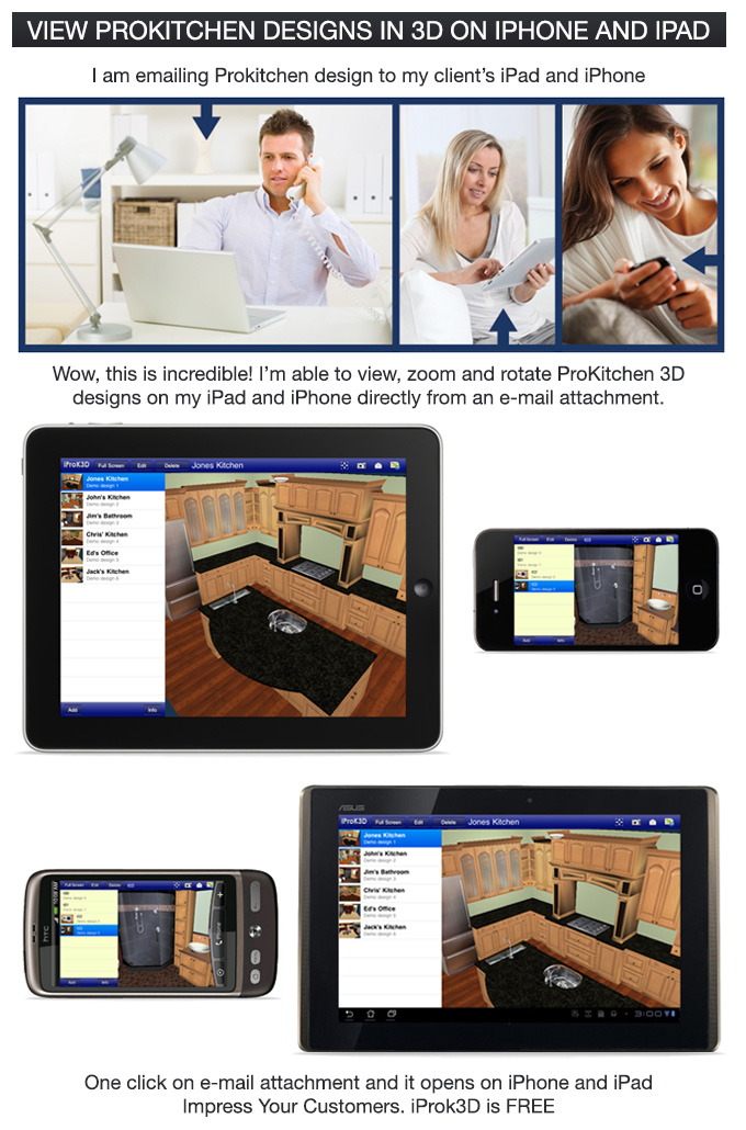 Iprok3d for iphone ipad android prokitchen software Bathroom design software android
