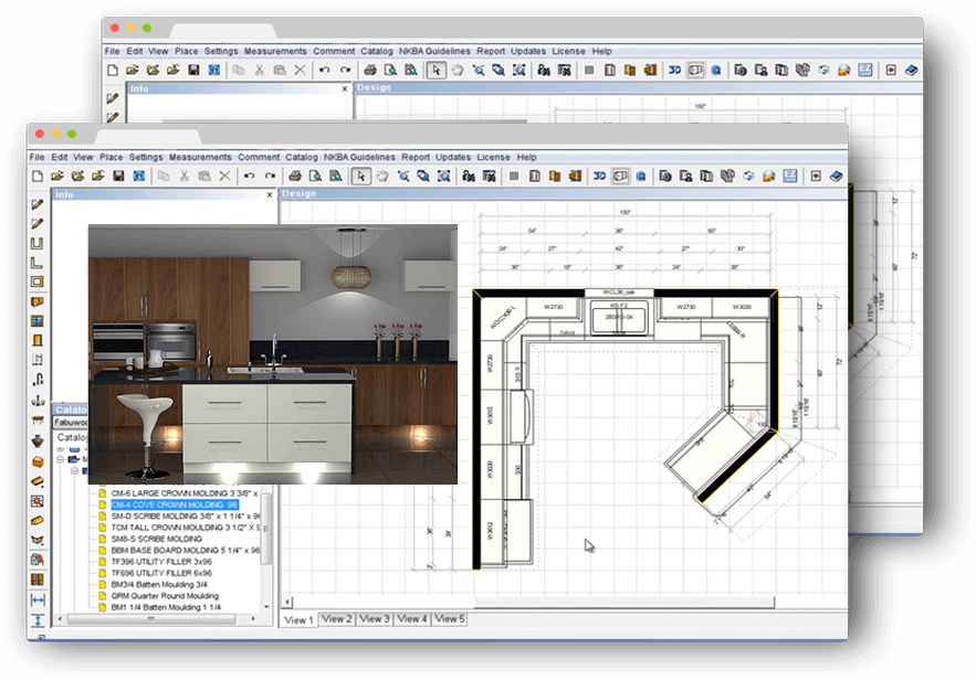 Prokitchen software kitchen bathroom design software Kitchen cabinetry design software