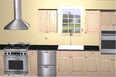 3D Appliance Positions