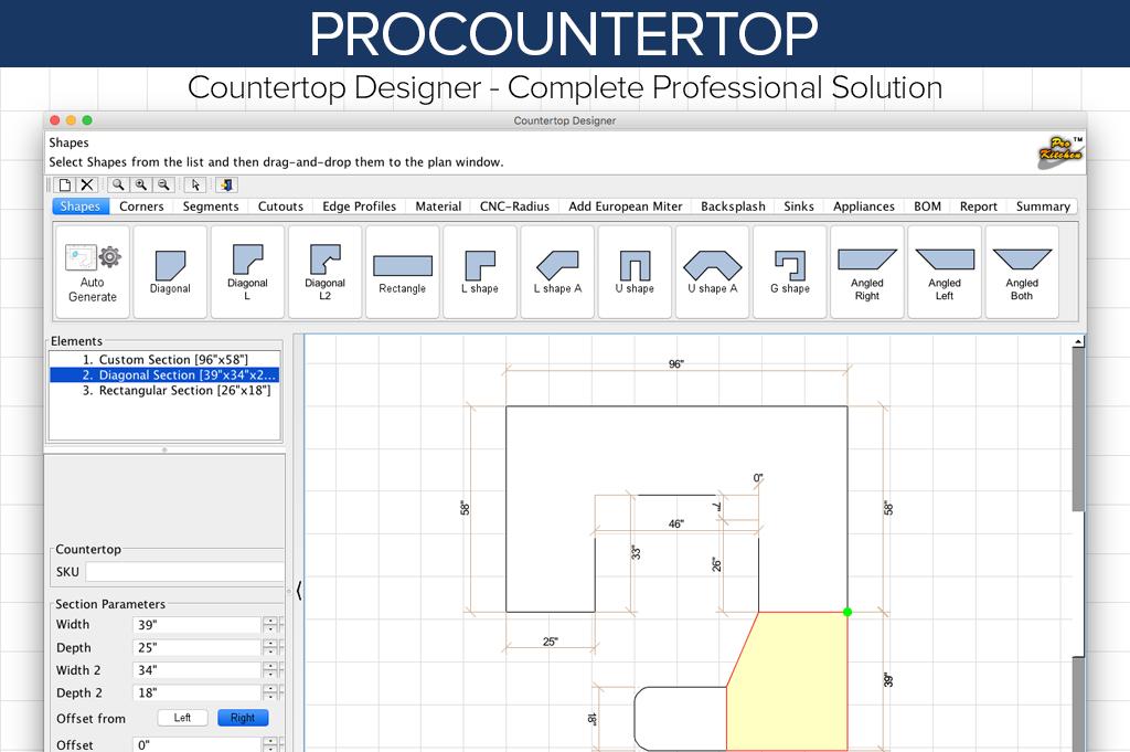 Procountertop Prokitchen Software