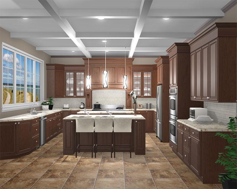 Traditional Kitchen rendered in ProKitchen Software
