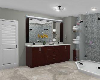 Bathroom rendered in ProKitchen Software