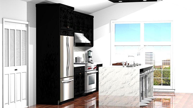 Kitchen Designed with Bishop Framed Catalog in ProKitchen Software