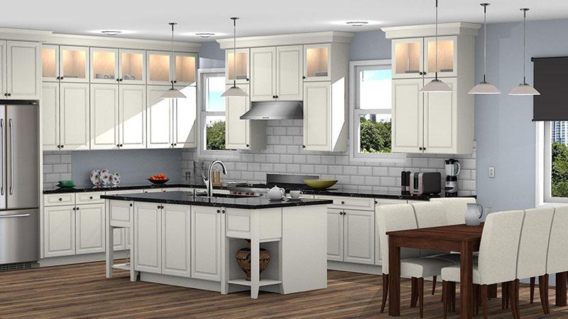 Kitchen Designed with Kraftmaid Catalog in ProKitchen Software