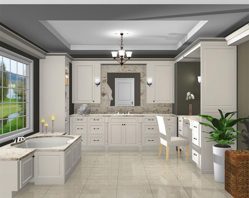 Master Bathroom rendered in ProKitchen Software