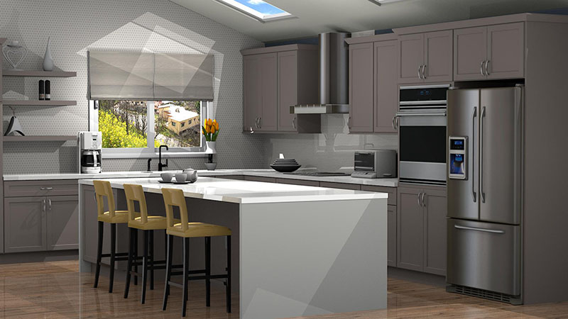 Kitchen Designed with Quality Cabinets Catalog in ProKitchen Software