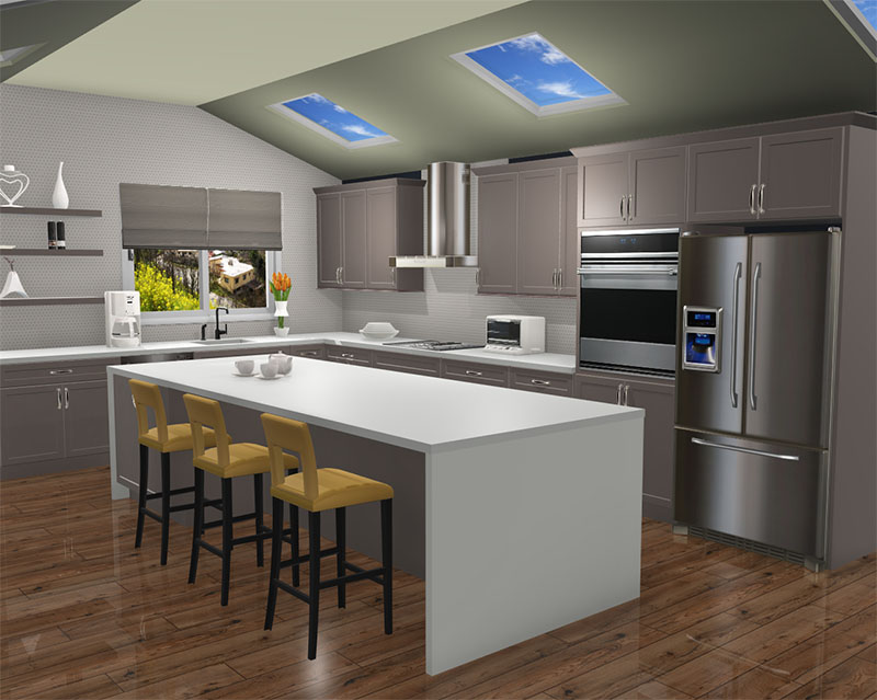 Kitchen rendered in ProKitchen Software