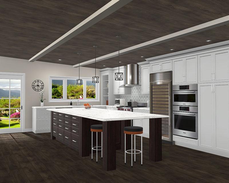 Rustic Kitchen rendering in ProKitchen Software